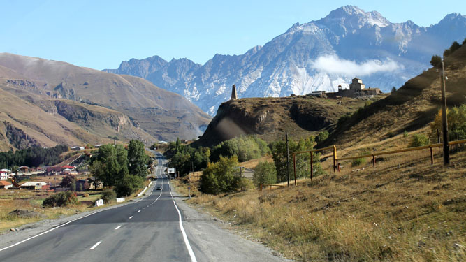 Road of kazbegi
